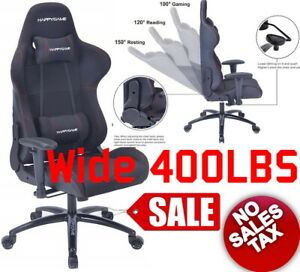 400lb Heavy Duty Big And Tall Gaming Reclining Office Ergonomic High Back Chair
