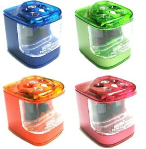 Jakar Double Hole Electric Pencil Sharpener Battery Operated Automatic New 5156