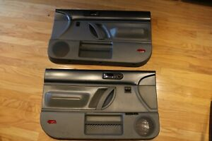 98 10 Vw New Beetle Oem Door Panels Dark Grey Gray Coupe Left Right Set Nice