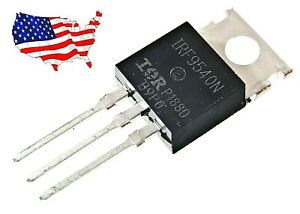 Irf9540n 10 Pcs 23a 100v To 220 Ir P channel Power Mosfet From Us