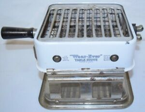 Vintage Armstrong Table Stove No 8 B White Top Enamel Appliance Wear Ever