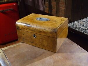 Antique Victorian Domed Top Walnut Sewing Box Jewellery Super Item Original