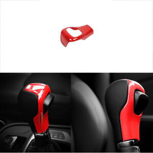 Fit For Jeep Cherokee 2014 2018 Abs Red Central Console Gear Shift Knob Frame