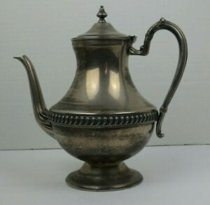 Vintage Silver Plate Silver On Copper Coffee Tea Pot