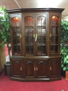 Pennsylvania House Canted Cherry China Cabinet Delivery Available