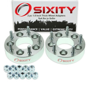 2pc 1 5 5x4 5 To 5x5 Wheel Spacers Adapters For Pickup Truck Suv Thick Fn