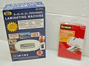 Royal 4 5 Laminating Machine Rpa 200cl Small Office 20 Clear Thermal Pouches