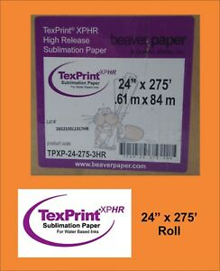 Texprint Xp Sublimation Transfer Paper 24 X 275 Roll