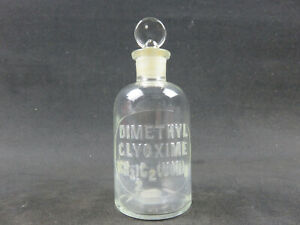 Dimethyl Clyoxime Ch3 2 Noh 2 Embossed Apothecary Bottle Tcw Co U S A 1 M 8 5