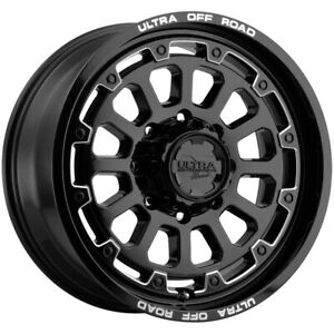 4 ultra 111 Xtreme 20x9 8x6 5 18mm Black milled Wheels Rims 20 Inch