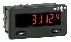 Red Lion Dc Voltmeter W Red green Backlight Includes Instructions Cub5vb00