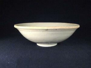 Very Old Antique Chinese White Glazed Porcelain Bowl Song Or Yuan Dynasty