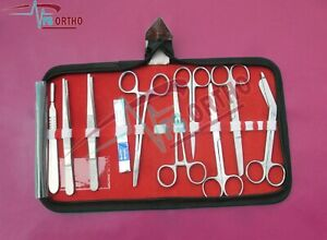 Medical Student Nurse 25 Kit Of Surgical Surgery Instruments
