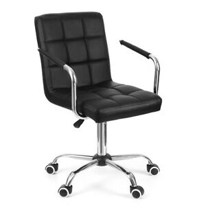 Computer Office Chair Desk Executive Task Swivel Adjustable Wheels Chair Leather