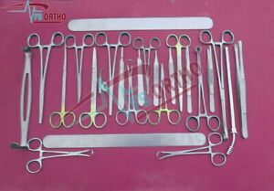 Appendectomy And Hernia General Surgery Set Of Surgical Medical Instruments