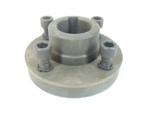Steel Flange 1 9 16 Shaft W Keyway Set Screw 3 1 2 Mounting Bolt Circle