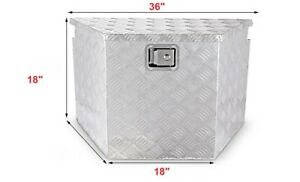 36 W Aluminum Trailer Tongue Tool Box