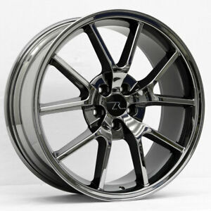 20 Black Chrome Mustang Fr500 Style Wheels 20x8 5 20x10 5x114 3 2005 2020