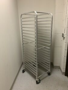 Sheet Pan Rack Welded Aluminum Front Load 20 Pans 5 Castor With 2 Brakes