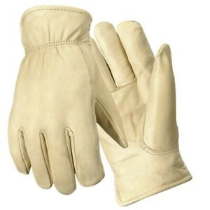 three Pairs New Wells Lamont Y0153 Grain Cowhide Leather Gloves Extra Large