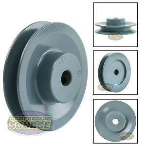 3 5 Cast Iron 1 2 Shaft Pulley Sheave Single 1 Groove V Style A Belt 4l New