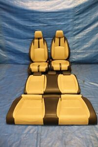 2017 Honda Civic Touring Coupe Turbo Oem Leather Front Rear Seat Set 9321