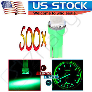 500x T5 74 Wedge 1 5050smd Instrument Gauge Dash Indicator Led Light Bulbs Green