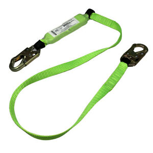 6 Fall Safety Lanyard Fall Protection W double locking Snap Hooks 1 Each