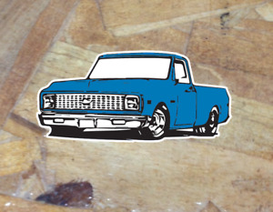 Chevy C10 1967 1698 1969 1970 1972 Sticker Pickup Truck Whitewall Window Decal