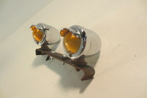 Vintage Fender Signal Lights Lamps Truck Cab Motorcycle Amber Pair Accessory