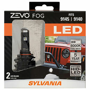 Sylvania 9145 Zevo Fog Led Fog Lights Bright White Led Light Output 2 Bulbs