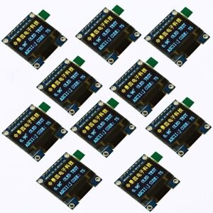 10pcs 0 96in I2c Iic Spi Serial 128x64 Oled Lcd Led Display Module For Arduino