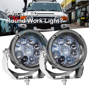 Pair 5 5 inch 420w Cree Led Driving Lights Round Spot Headlights Offroad Hid 12v