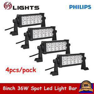 4x 8 Inch 36w Led Work Light Bar Spot Lamp Offroad Driving Truck Ford Boat 7 9
