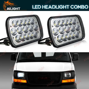 7x6 Led Hid Light Bulbs Crystal Clear Sealed Beam Headlamp Headlight Pair 5x7