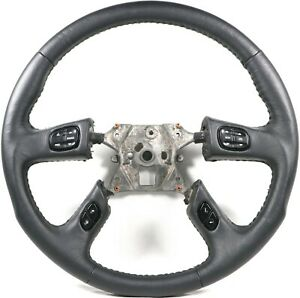 Grant 61037 Racing Leather Steering Wheel W Controls Fits 2003 2007 Silverado