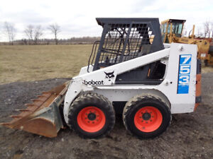 1994 Bobcat 753 Skid Steer 1 Owner Orops Sticks pedals Aux Hyd Nice