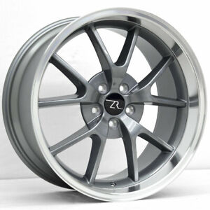 20 Anthracite 05 20 Mustang Fr500 Style Wheels Staggered 20x8 5 20x10 5x114 3