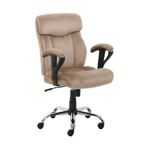 Serta Big Tall Fabric Manager Office Desk Computer Chair 48331 c Beige Brown