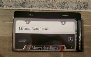 Mercedes benz Stainless License Plate Frame With Carbon Fiber Insert B Q 6880122