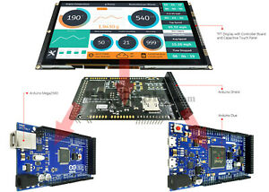 9 Inch Tft Lcd Capacitive Touch Ssd1963 Shield For Arduino Due mega 2560 Library