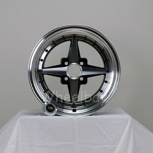 4 Rota Wheel Zero Plus 15x7 35 4x100 Frblk Mr2 Civic Mr2 Miata