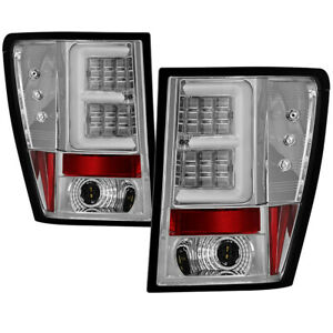 Fit 05 06 Jeep Grand Cherokee Clear Led Tube Style Tail Brake Lights Left Right