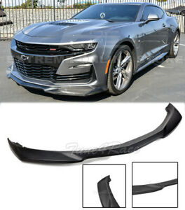 For 19 Up Camaro Lt Ls Rs Ss V8 Abs Plastic Zl1 Style Front Bumper Lip Splitter