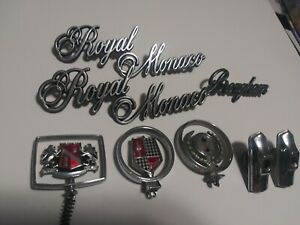 Dodge Royal Monaco Emblem Hood Ornament Lot Free Shipping