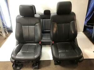 2013 Ford F150 Seats Complete Set Heated Cooled Black Leather Project Resto