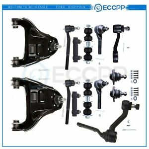 For 99 03 Chevy Blazer S10 4wd 14pc Complete Front Suspension Control Arm Kit