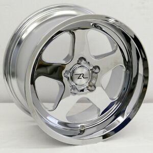 17 Chrome Mustang Saleen Sc Replica Wheels Staggered 17x9 17x10 5x114 3 94 04