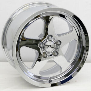 4 17 Chrome Mustang Saleen Sc Replica Wheels Set 17x9 24 5x114 3 94 04 Sn95