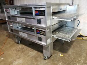 Middleby Marshall Ps570g Doublestack Nat Gas Pizza Conveyor Oven video Demo